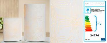 """Porzellanlampe Elipse """"Blume"""" klein oder groß - Gilde – Bild 3"""