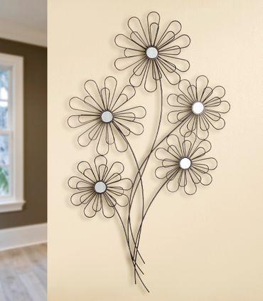 "Wandrelief Wandbild ""5 Blüten"" - Gilde Handwerk"