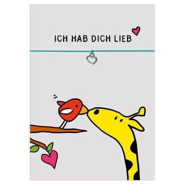 "Armband "" Ich hab Dich lieb"" - Glücksschmiedin  – Bild 2"