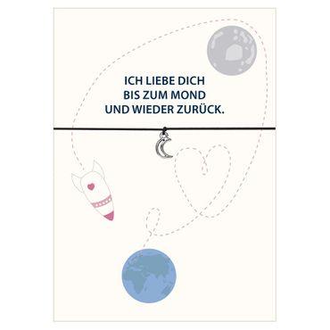 """Armband """"Bis zum Mond """" Wunscharmband - Glücksschmiedin  – Bild 2"""