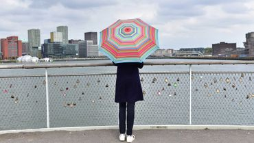 """Schirm Reise-Regenschirm  Taschenschirm """"Stripes"""" - Remember  – Bild 2"""
