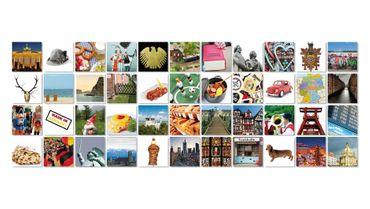 """Gedächnisskarten Gedächtnisspiel """"Deutschland Germany"""" in der Magnetbox 44 Kartenpaare - Remember  – Bild 1"""