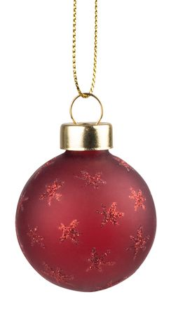 Weihnachtsschmuck Weihnachtskugeln 4 Set Rot/Glitter -  Räder Design – Bild 5