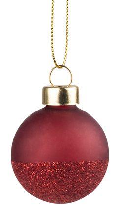 Weihnachtsschmuck Weihnachtskugeln 4 Set Rot/Glitter -  Räder Design – Bild 2