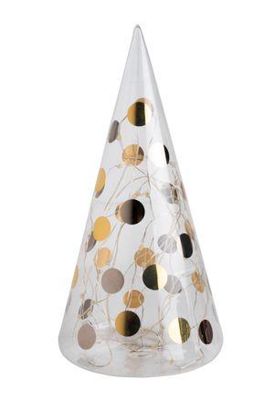 """LED Weihnachtsdeko Glastanne """"Punkte"""" groß bicolor - Räder Design"""