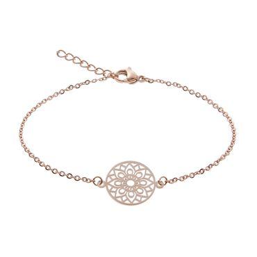 "Armband Glückskettchen rosévergoldet  ""Mandala des Glücks"" -  H.C.A. – Bild 1"