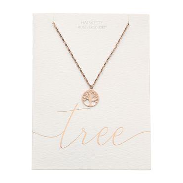 """Halskette Glückskettchen rosévergoldet """"Baum des Lebens"""" -  H.C.A. – Bild 2"""