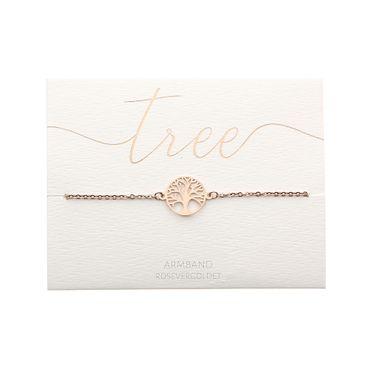"Armband Glückskettchen rosévergoldet  ""Baum des Lebens"" -  H.C.A. – Bild 2"
