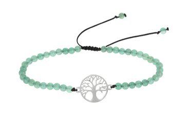 "Armband Glücksarmband Echtstein grüner Achat ""Baum des Lebens"" - H.C.A. – Bild 1"