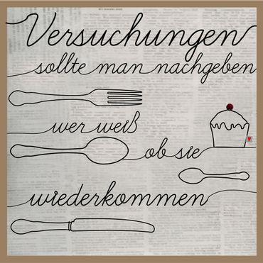 "Wandbild Drahtkunst ""Großes Besteck"" - Good old friends – Bild 1"
