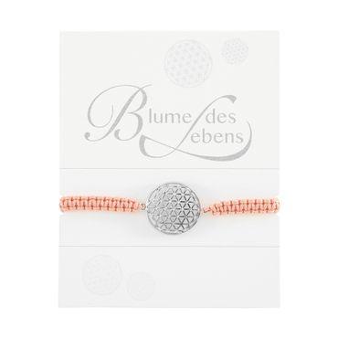 "Armband geknüpft Glücksarmband Symbol ""Blume des Lebens"" silber - H.C.A."