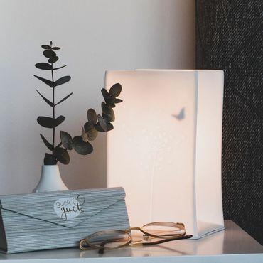 """Tisch Lampe Porzellanleuchte  Lichttütenleuchte """"Pusteblume"""" - Räder Design Living – Bild 3"""