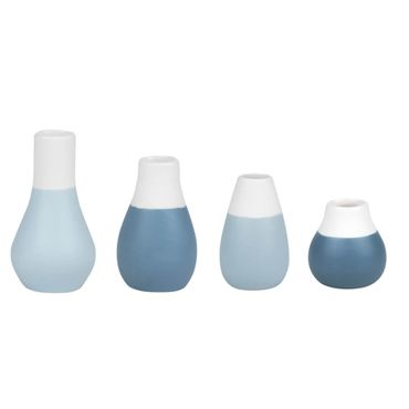 4er Set Mini Pastellvasen Blau - Räder Design Living