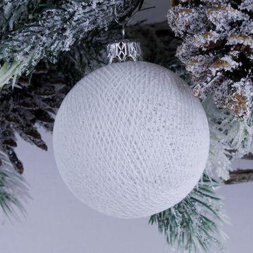 Lichterkette  Textil Weihnachtskugel - Cotton Ball Lights – Bild 15
