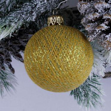 Lichterkette  Textil Weihnachtskugel - Cotton Ball Lights – Bild 4