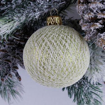 Lichterkette  Textil Weihnachtskugel - Cotton Ball Lights – Bild 12