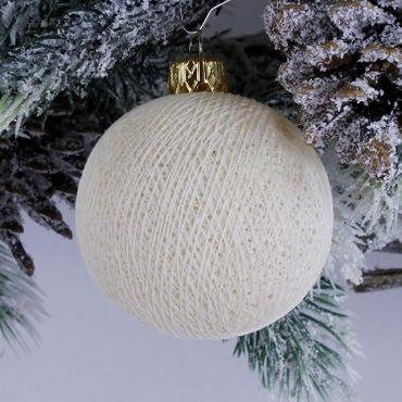 Lichterkette  Textil Weihnachtskugel - Cotton Ball Lights – Bild 11