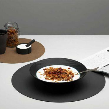 Runde Tischset Platzset Leder XL (40cm) in verschiedenen Farben - LindDNA – Bild 2