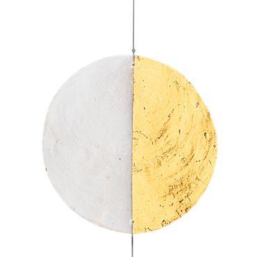 """Dekohänger Hängedekoration Capiz Kette """"gold/weiß"""" Raumdekoration - Räder  – Bild 2"""