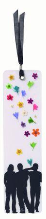 Lesezeichen MÄNNER Blumenlesezeichen aus echten Blüten