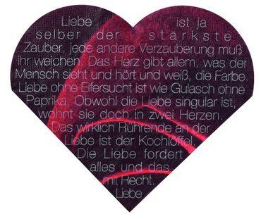 Servietten Herzservietten LIEBE IST DER STÄRKSTE ZAUBER Love Edition