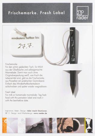 FRISCHEMARKE aus Porzellan mit Stift Poesie et Table. Breakfast – Bild 1