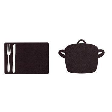 """Tafelklammern """"Messer und Gabel"""" Menütafel oder Platzschild – Bild 2"""