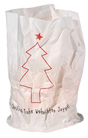 Weihnachts Papierlicht Karte TANNENBAUM Weihnachtskarte mit Lichttüte