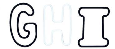Paper & Poetry Büroklammern Alphabet schwarz weiß Räder – Bild 4