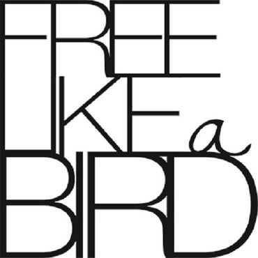 "kleine Wandpoesie Sticker ""Free like a bird"" Wandsticker Räder"