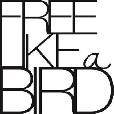 """kleine Wandpoesie Sticker """"Free like a bird"""" Wandsticker Räder – Bild 1"""