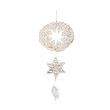 Weihnachtszauber Capiz Ornament MERRY CHRISTMAS