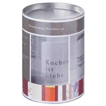 """Porzellandose klein """"Kochen ist Liebe"""" - Räder Design – Bild 2"""