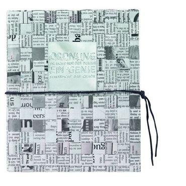 Zeitungspapier Buch Notizbuch Notizblock ORDNUNG BRAUCHT NUR... DIN A5 – Bild 1