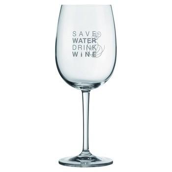 """Vino Rotweinglas """"save water drink wine"""" - Räder Design – Bild 2"""