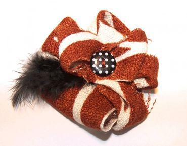 Haarblume Haarblüte MIRELLA Haarclip mit Feder