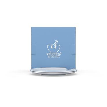 Kuchenteller, Dessertteller mit Biss Porzellan weiß 2er Set – Bild 3