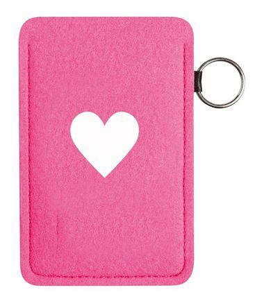 Filz Handytasche Telefonzellen HERZ rosé – Bild 1