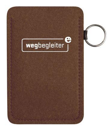Filz Handytasche Telefonzellen WEGBEGLEITER dunkelbraun – Bild 1