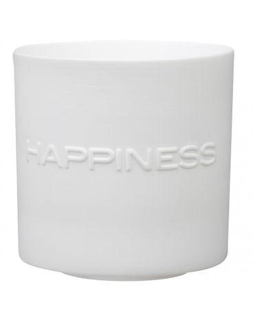 Teelichthalter 3er Set LOVE PEACE HAPPINESS Porzellan Räder – Bild 1