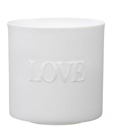 Teelichthalter 3er Set LOVE PEACE HAPPINESS Porzellan Räder – Bild 2