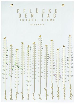 Dauerkalender Jahreskalender Wandkalender Pflück mich Kalender PFLÜCKE DEN TAG Räder