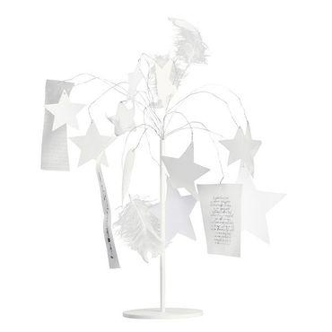 Silber + Weiß STERNENSCHWEIF mit Ständer