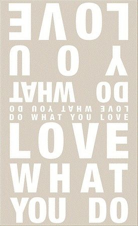 Tuch LOVE WHAT YOU DO Poesietuch