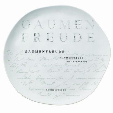 Gourmet Teller groß GAUMENFREUDE Poesie et Table Räder