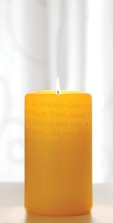 Wortlichtkerze LEUCHTENDE GEBURTSTAGSWÜNSCHE Kerze Geburtstag – Bild 1