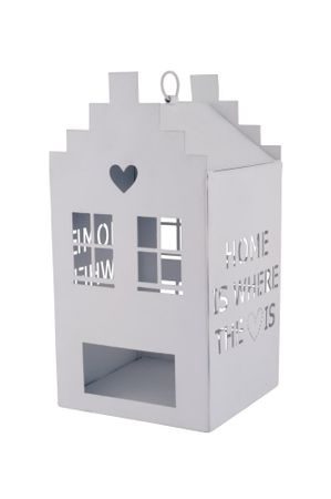 "Windlicht Häuschen ""home is where the heart is"" groß - Gift Company – Bild 1"