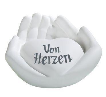 Skulptur, Deko Herz in Händepaar, mit individueller Widmung möglich – Bild 4