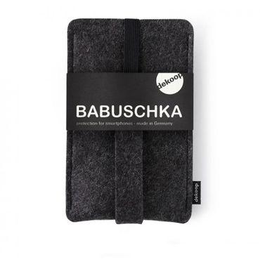 BABUSCHKA Handytasche für Iphone 6, Samsung Galaxy S3/S4 u. a. große Smartphones, reiner Wollfilz – Bild 1