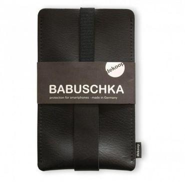 BABUSCHKA Handytasche für Iphone 6 Plus und andere sehr große Smartphones, Rindsleder – Bild 3